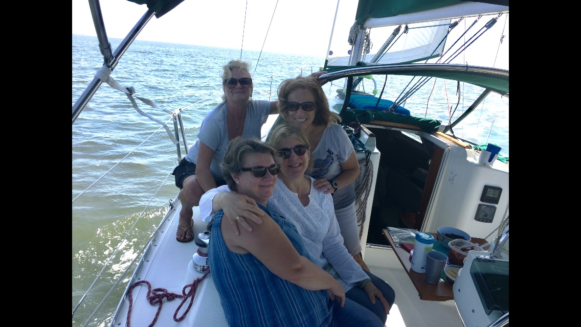 lori and friends on boat