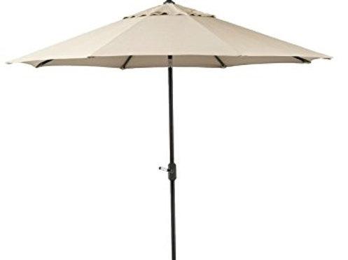 Beige Umbrella (w/ Base)