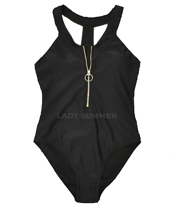 Bikini negro con cierre