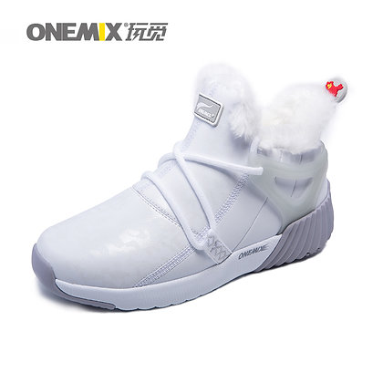 Bota de Invierno Onemix Gris y Blanco