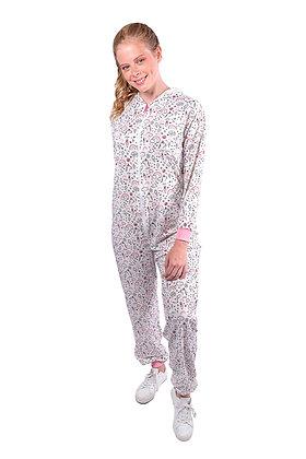 Pijama largo con estampado en unicornio