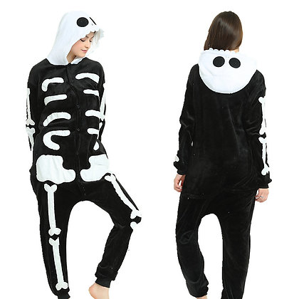 Pijama Skeleton con botones