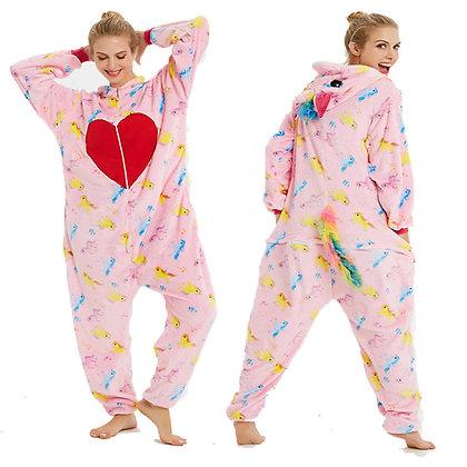 Pijama Unicornio Corazon Rojo con cierre