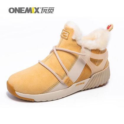 Bota de Invierno Onemix Blanca y Amarilla
