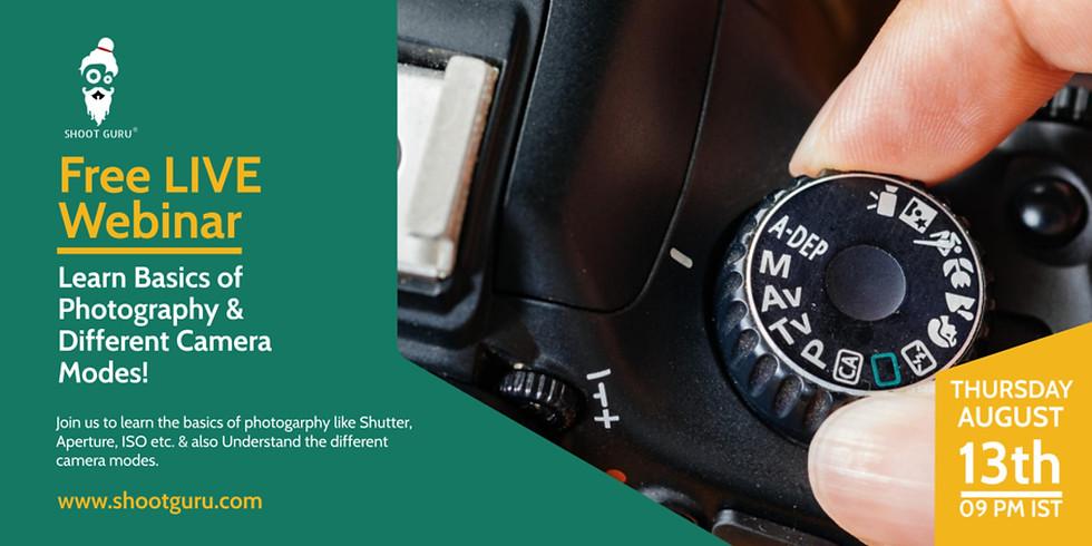 LIVE WEBINAR | Basics of Photography & Camera Modes
