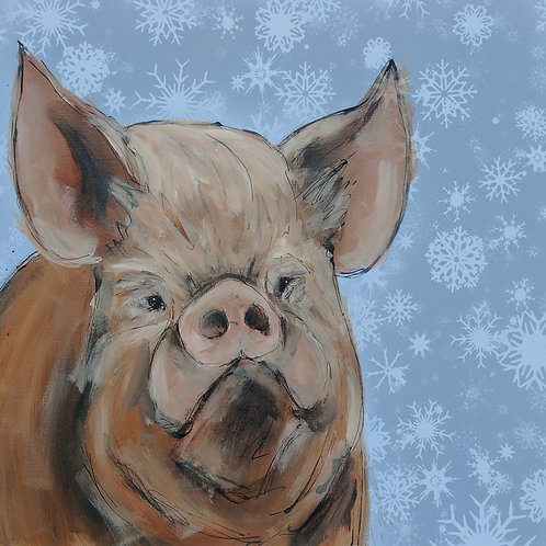 Middlewhite Pig Christmas Cards