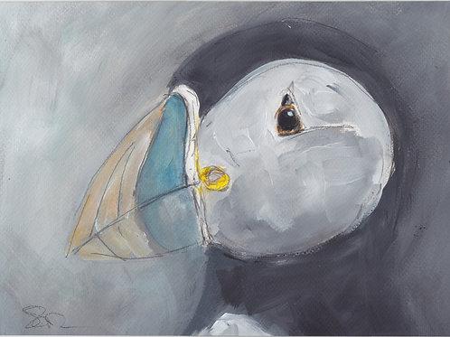 Puffin Original Painting