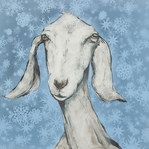 Snow White Anglo Nubian Goat Christmas Cards