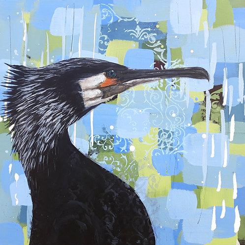 Cormorant  - 50 x 50cm on canvas