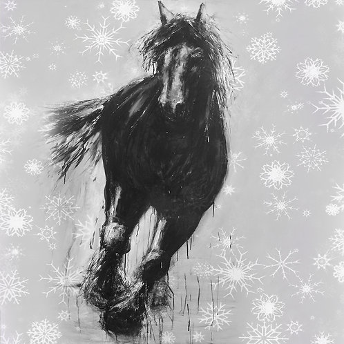 Running Horse Christmas Cards