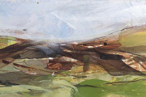 Crows Across the Moor Original Painting