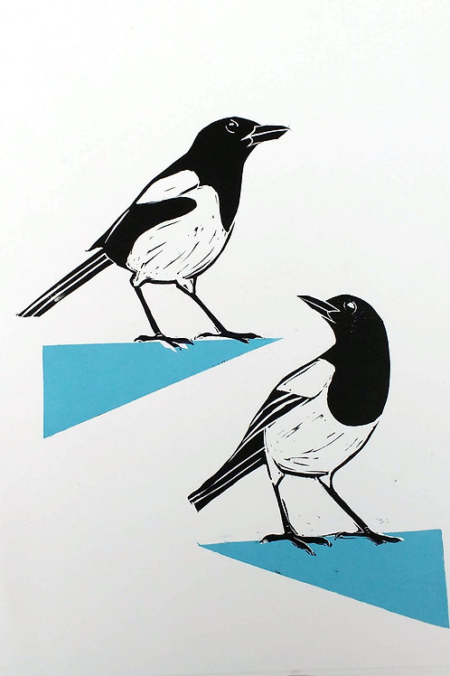A Pair of Magpies on the edge