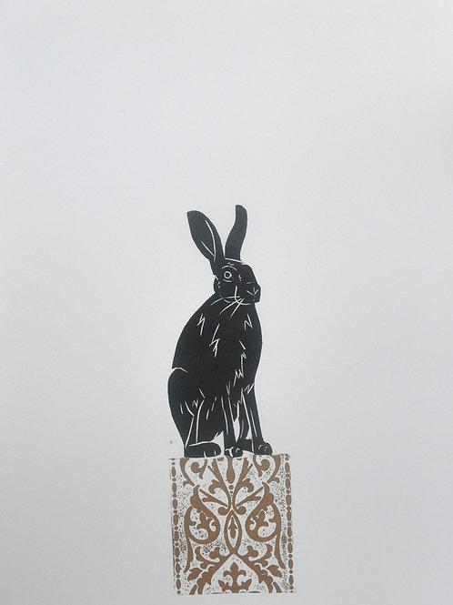 Hare on a Plinth