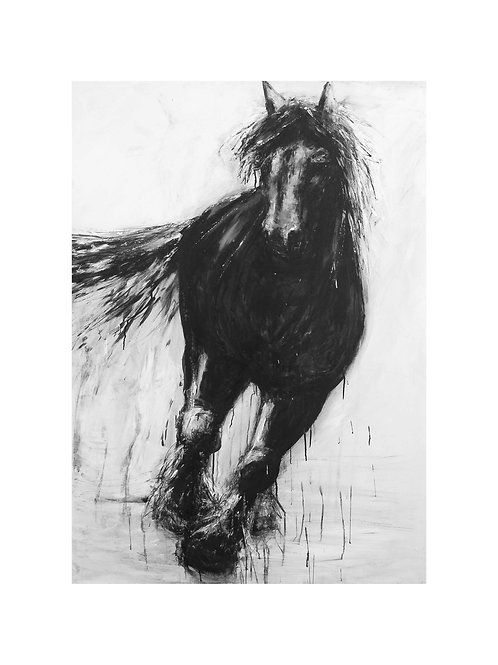 Running Heavy Horse Print