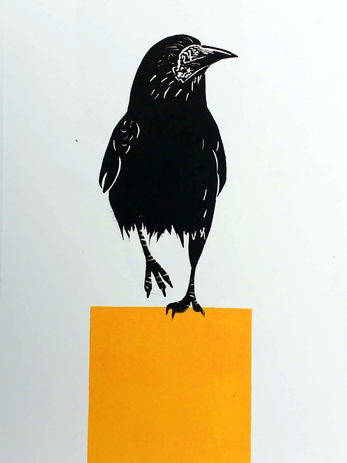 Rook standing on a Yellow Square