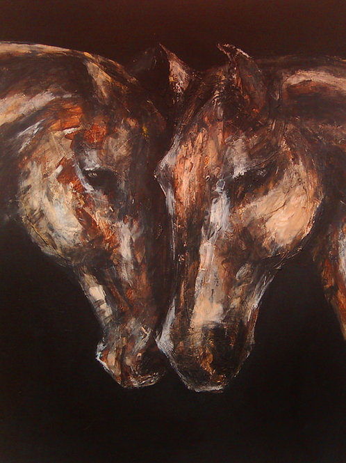 Nose to Nose Horses Print