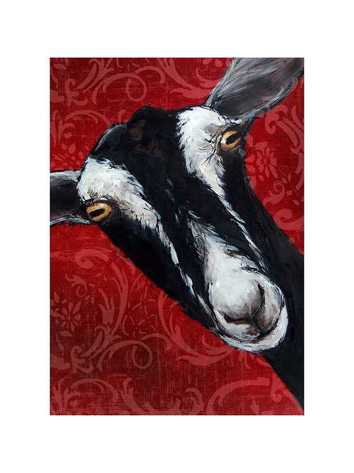 British Alpine Goat Print