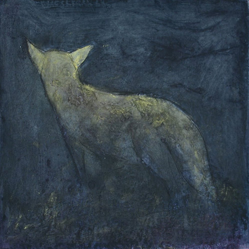 Thought Fox - Collagraph