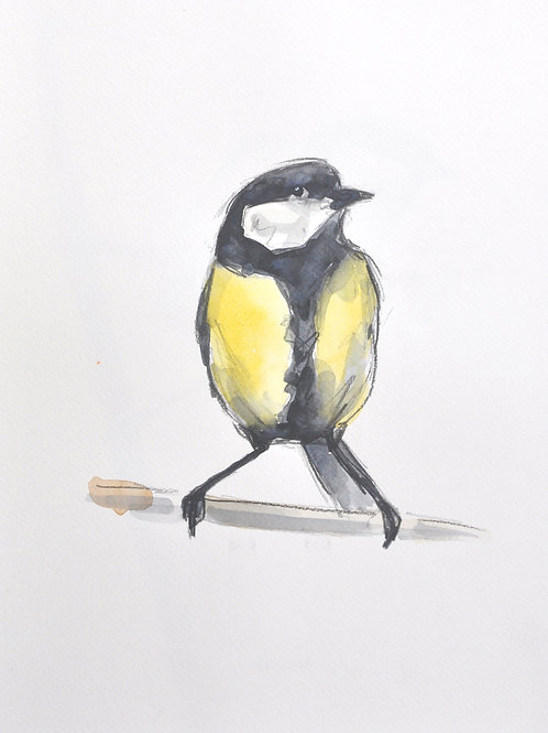 Great Tit Original Painting