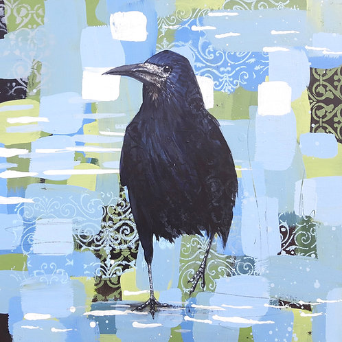 The Trickster - Rook 50 x 50cm on canvas