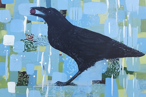 Gnarled Wisdom - Raven 50 x 70cm on canvas