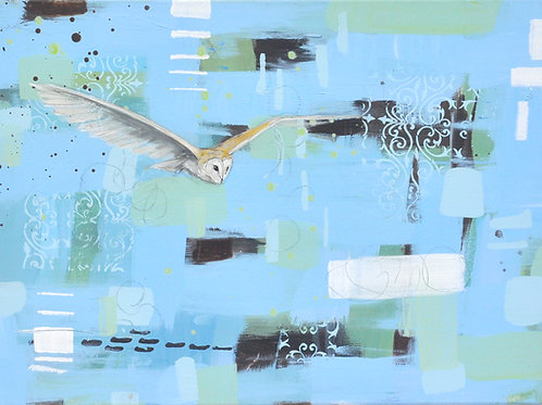 On Silent Wings 50 x 70cm on canvas