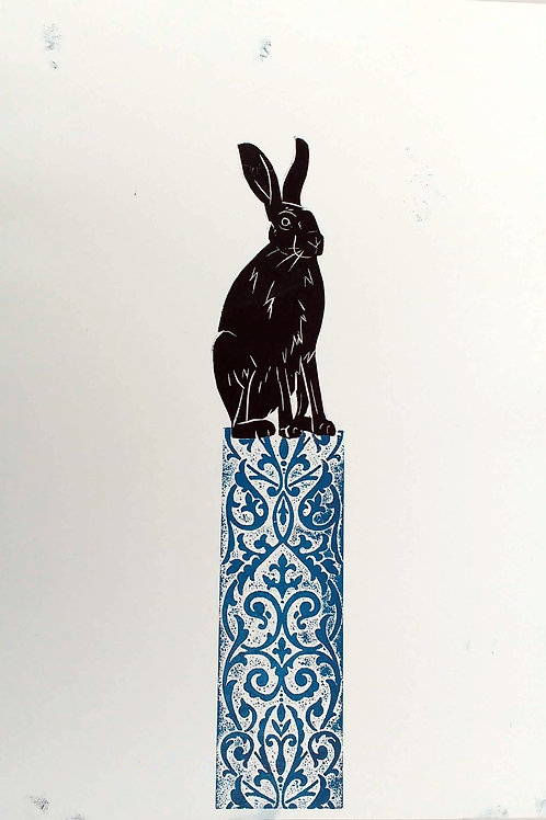 Hare on a Plinth