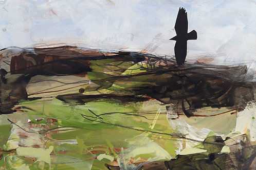 The Carn with Crows Original Painting