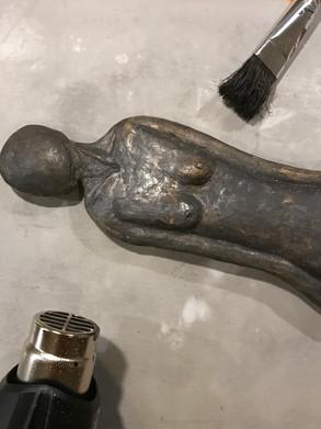 patina on bronze