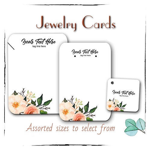 Earring Cards, Necklace Tags, Peach Floral Jewelry Cards