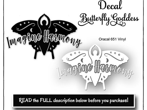 Goddess Decal, Vinyl Decal, Oracal 651 Permanent Decal, Imagine Harmony Decal, G