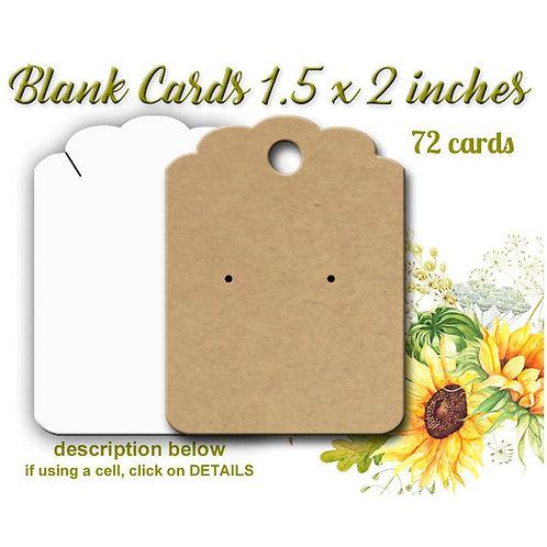 BLANK Earring Cards