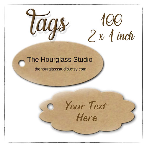 Tags, Price Tags, Jewelry Tags, Scallop Tags