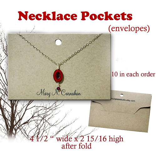 Necklace Pouch, Necklace Envelope, Necklace Holder