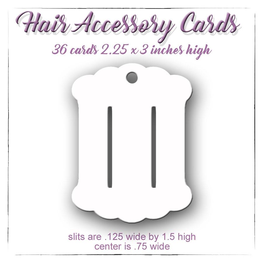 Hair Accessory Cards, Hair Bow Cards