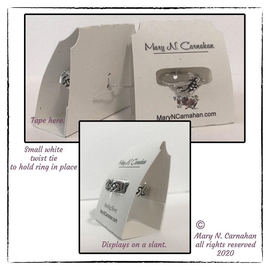 Custom RIng Holder Card