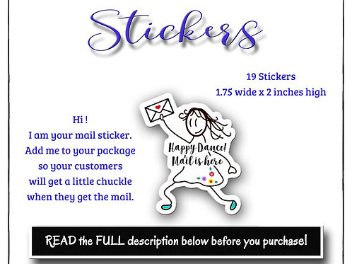Stickers, Paper Stickers,  Girl Stickers, Mail Stickers, Post St