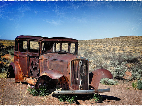 Vintage Car, Left Behind