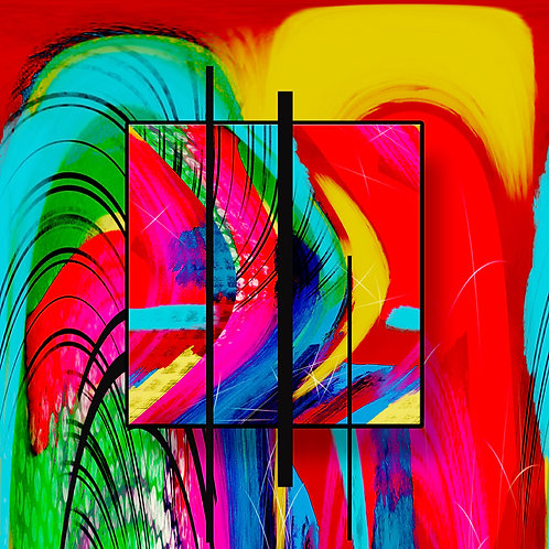 Abstract Art, Bent Abstract, Computerized Art, Vibrant Color