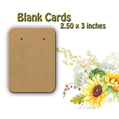 BLANK Earring Cards,Blank Cards,Blank Jewelry Cards