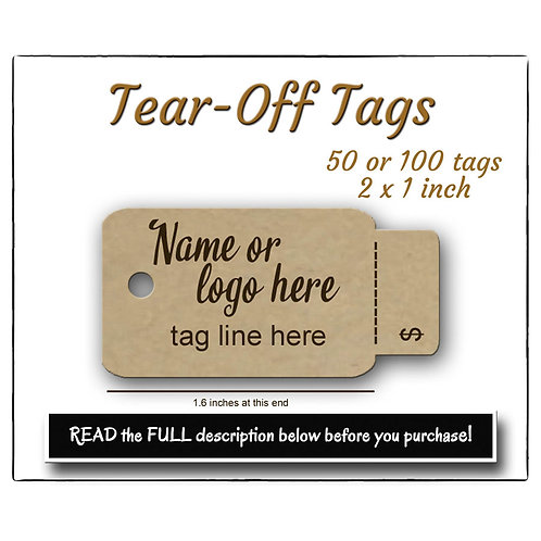 Perforated Price Tags