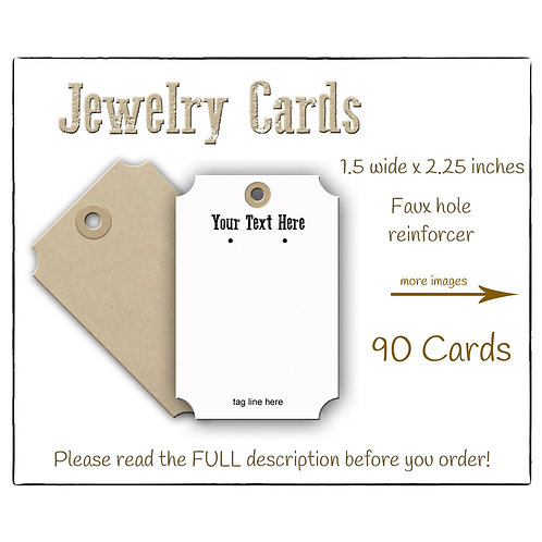 Earring Cards, Necklace Tags, Luggage Look Jewelry Cards
