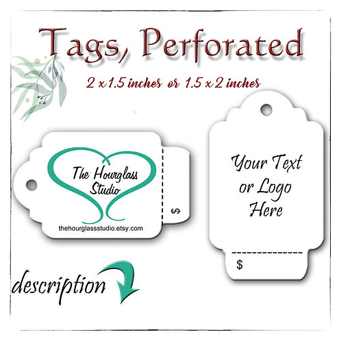 Perforated Tags, Tags, Price Tags, Custom Tags