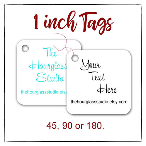 Tags, Price Tags, Jewelry Tags, 1x1 inch Tags, Thank you Tags, CustomTags