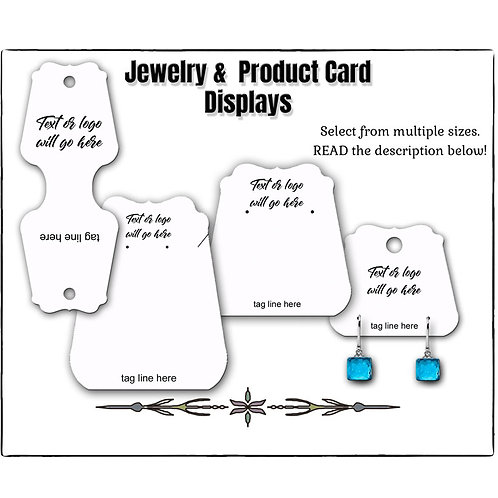 Custom Earring Cards, Jewelry Cards, Custom Tags, Made in the US