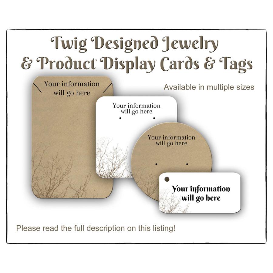 Twig Jewelry Cards