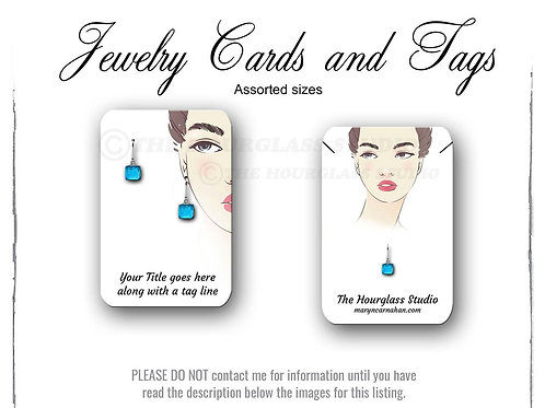 Matching Jewelry Cards -- Assorted  Sizes