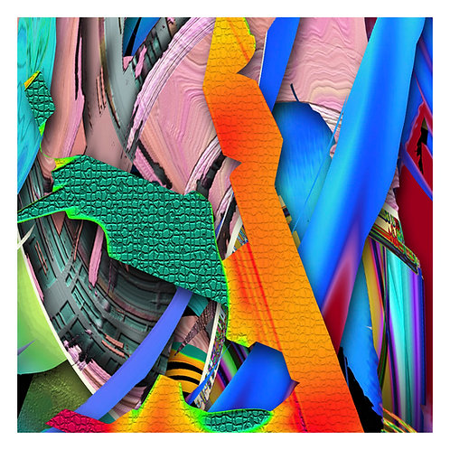 Abstract Art, Lost in Color, Computerized Art, Vibrant Colors