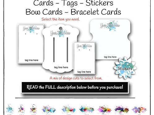 Jewelry Card Watercolor Sets, Jewelry Display