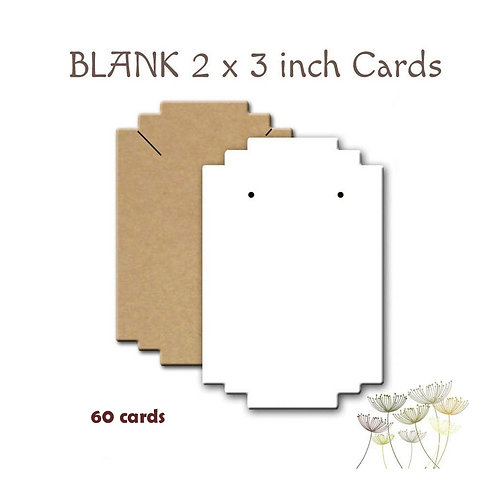 BLANK Earring Cards